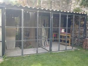 veranda, baie vitrée fer forgé