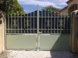Portail artisanal fer forgé Toulon hyères la crau La valette 83, var la farlède. Ferronnier, ferronnerie Faufer