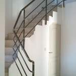rampe escalier moderne fer forgé, ferronnerie acier, var le pradet, hyères, la garde, la valette du var, france