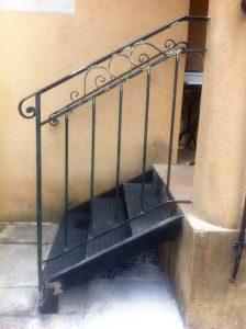 Escaliers fer forgé sur mesures