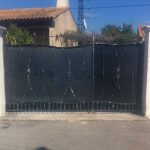 Portail avec noeuds acier Ollioules. Portail fer forgé provençal